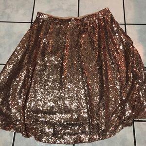 """Torrid Rose Gold 29"""" Sequin Midi Skirt"""